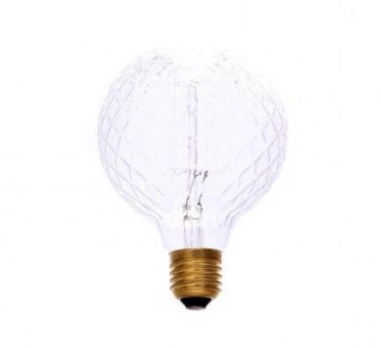 IN STORE ONLY: clear bevel cut e27 screw bulb filament (non led) approx 9.5cm x9.5cm £6.50