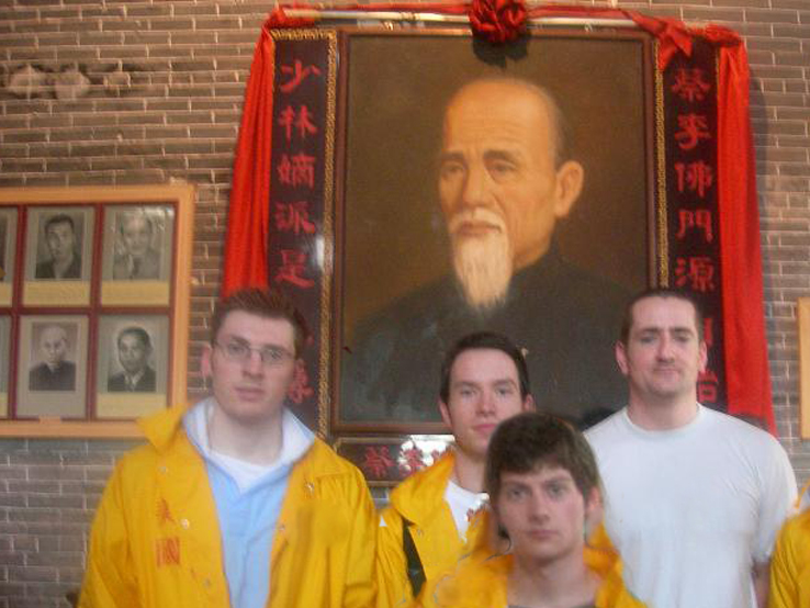 Hung Sing UK Team at the Shrine in Chan Heung's Original home.jpg
