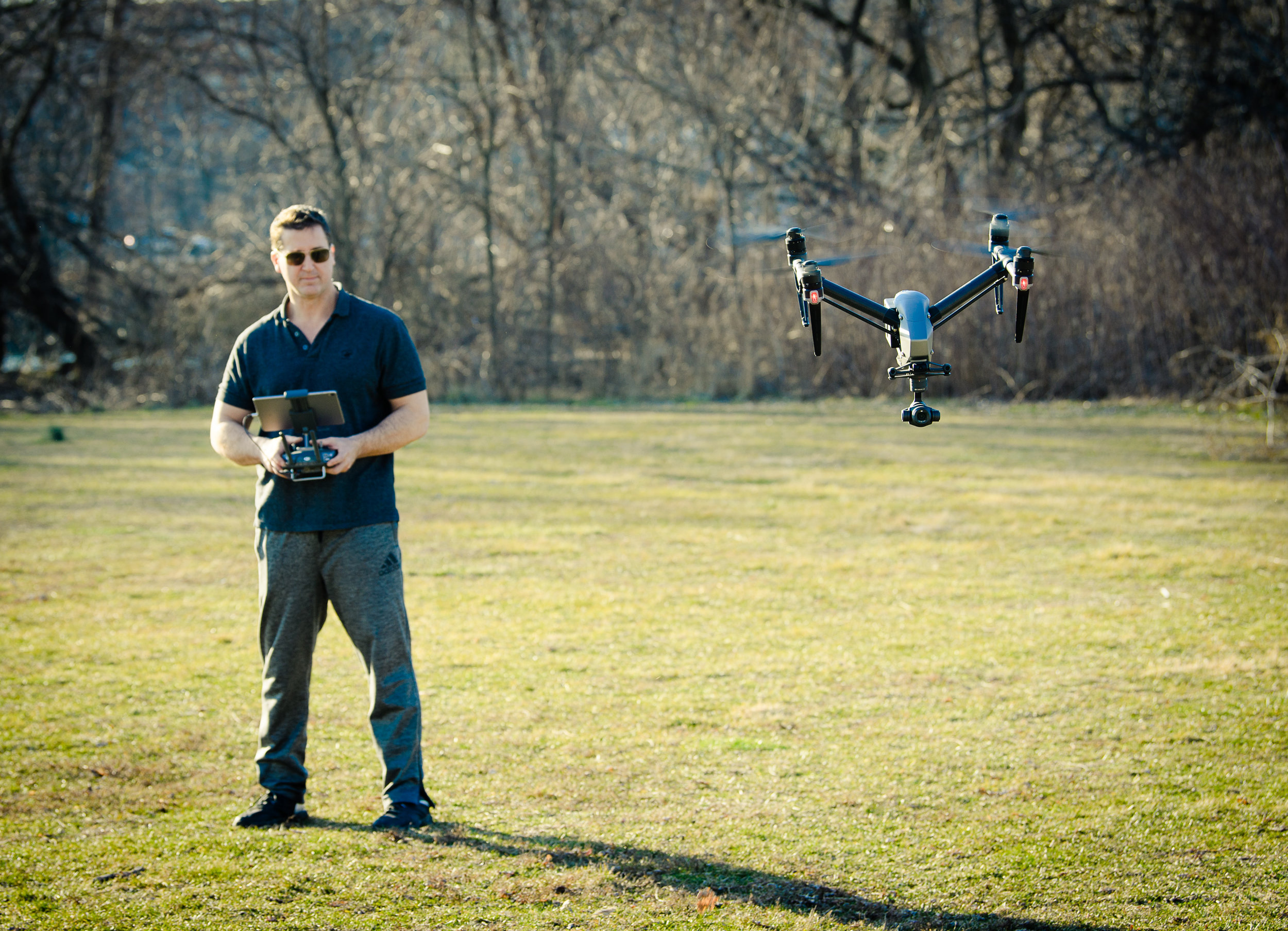 FAA Certified UAS Pilot Dave Kotinsky flying the DJI Inspire 2
