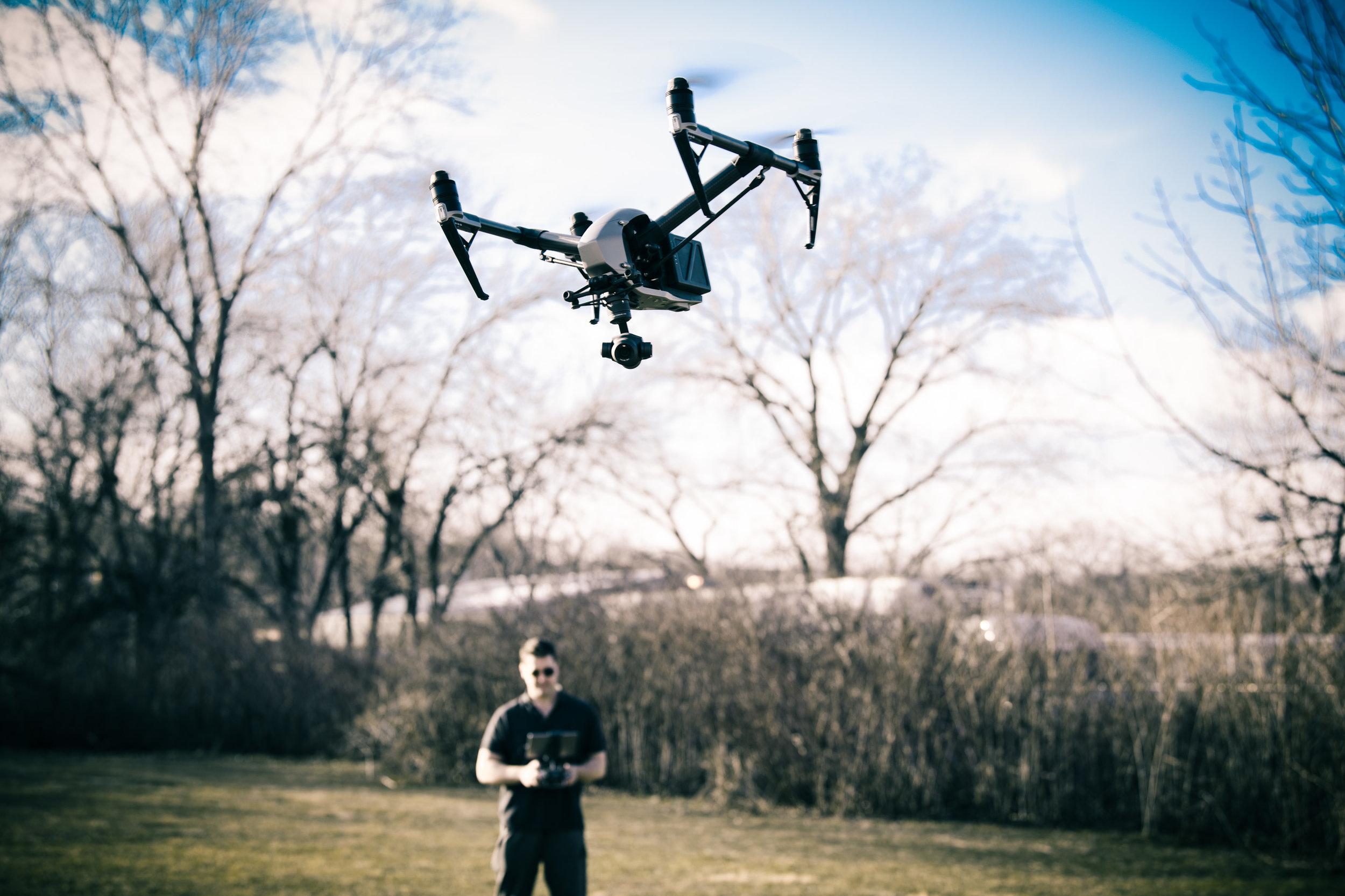 "Photographer Dave Kotinsky with Inspire 2 Drone or preferably ""Flying Camera"" !"