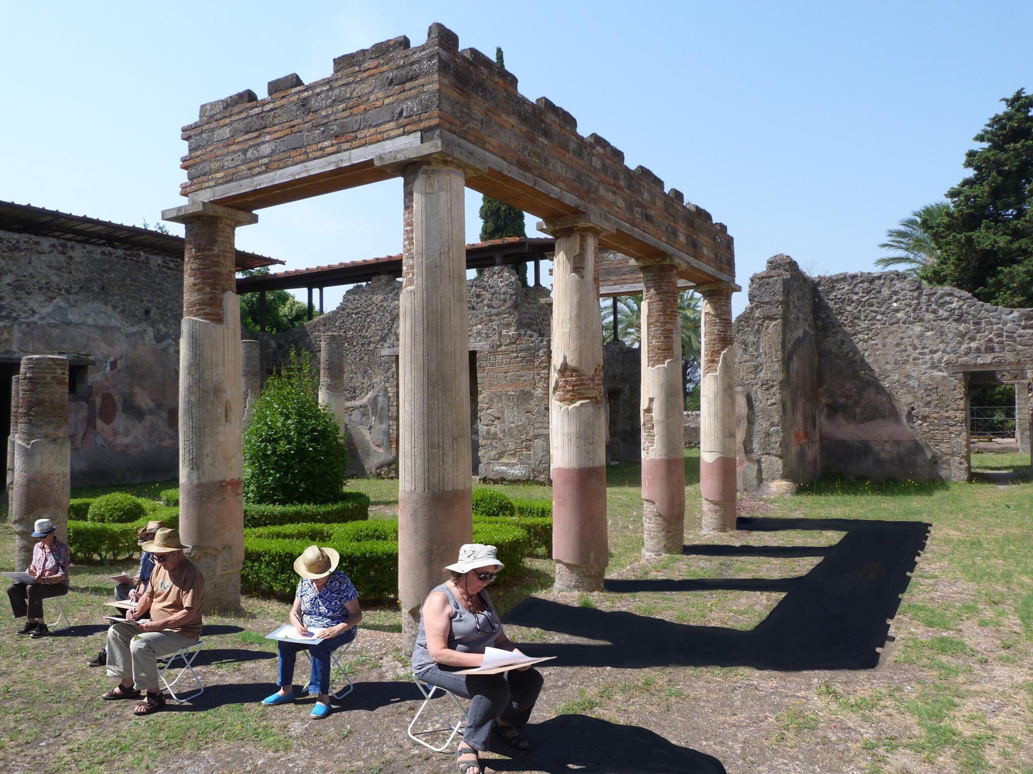 Painting holiday Pompeii Amalfi