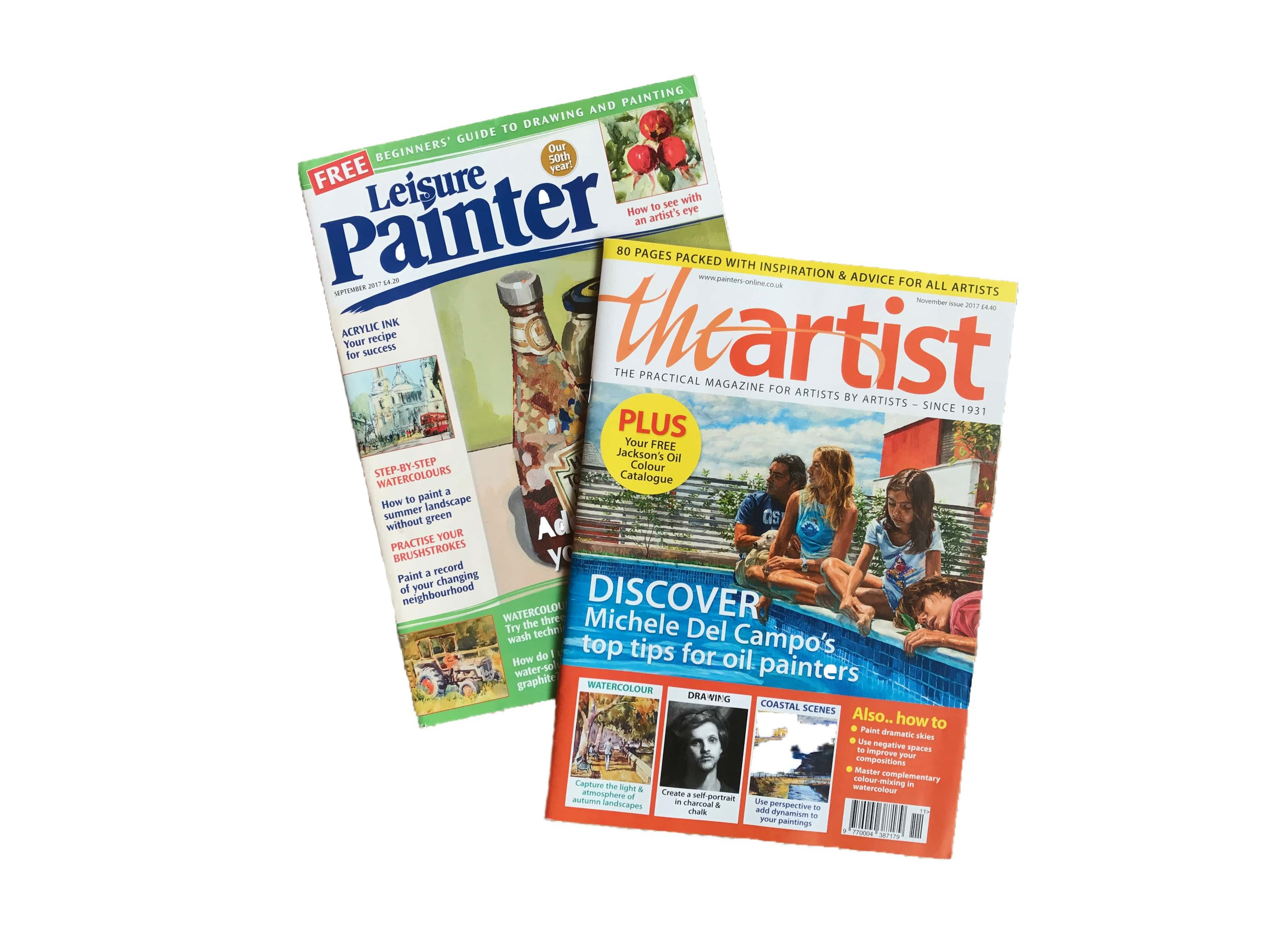 Azenart painting holidays are featured on painters-online.co.uk, and in The Artist and Leisure Painter. -