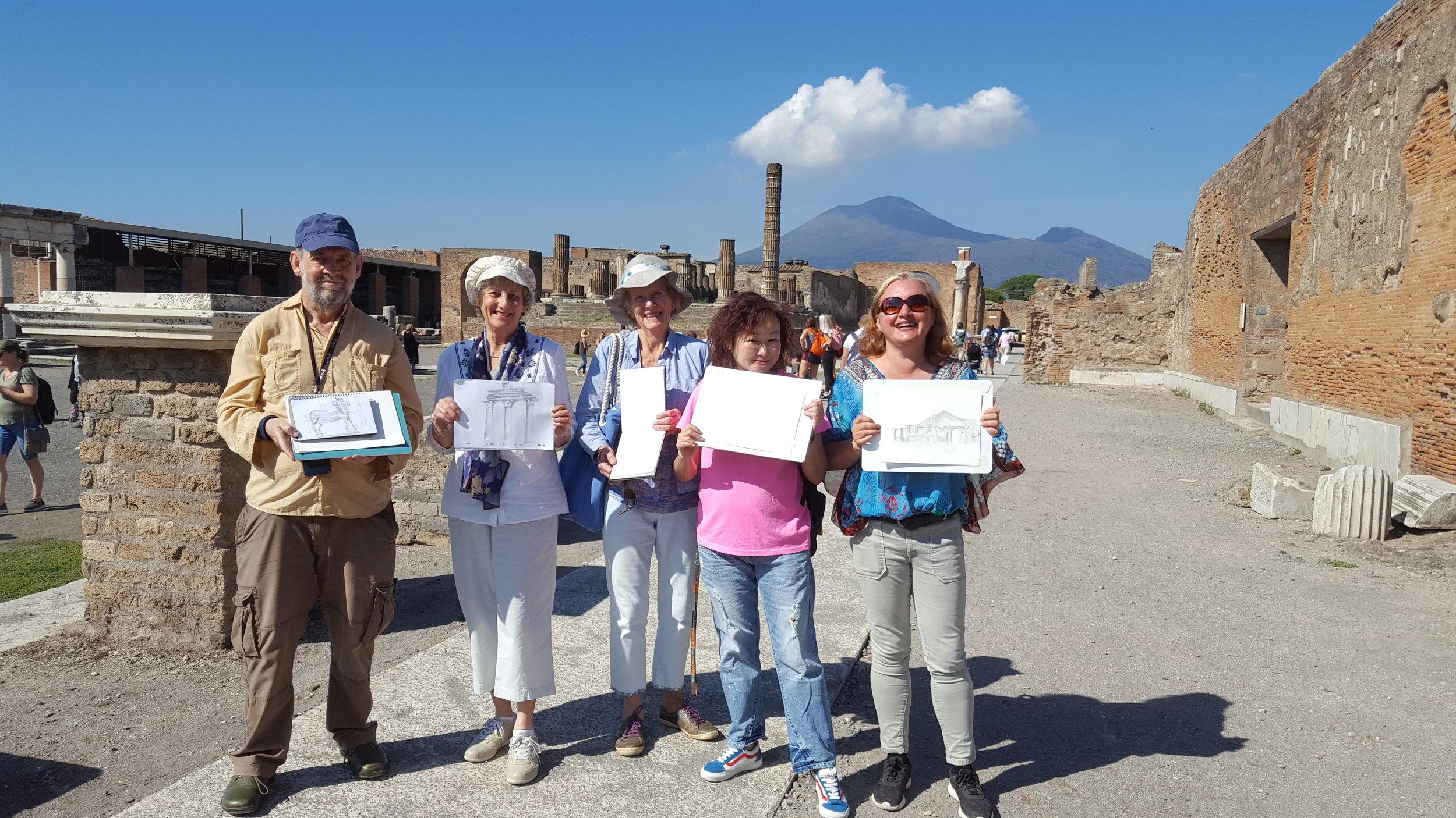 Amalfi Pompeii art holiday