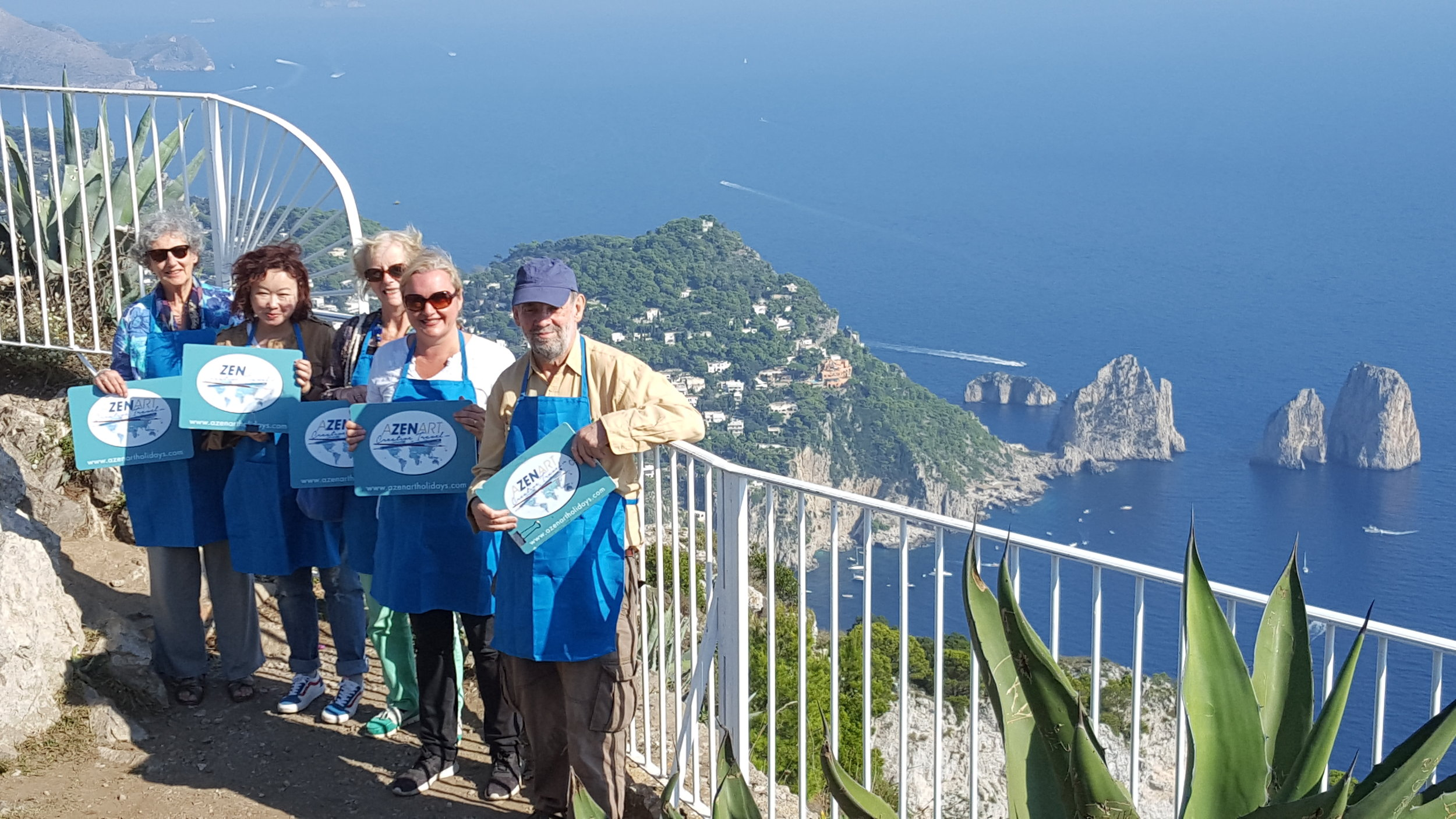 PAINTING IN CAPRI WITH A 2018 GROUP