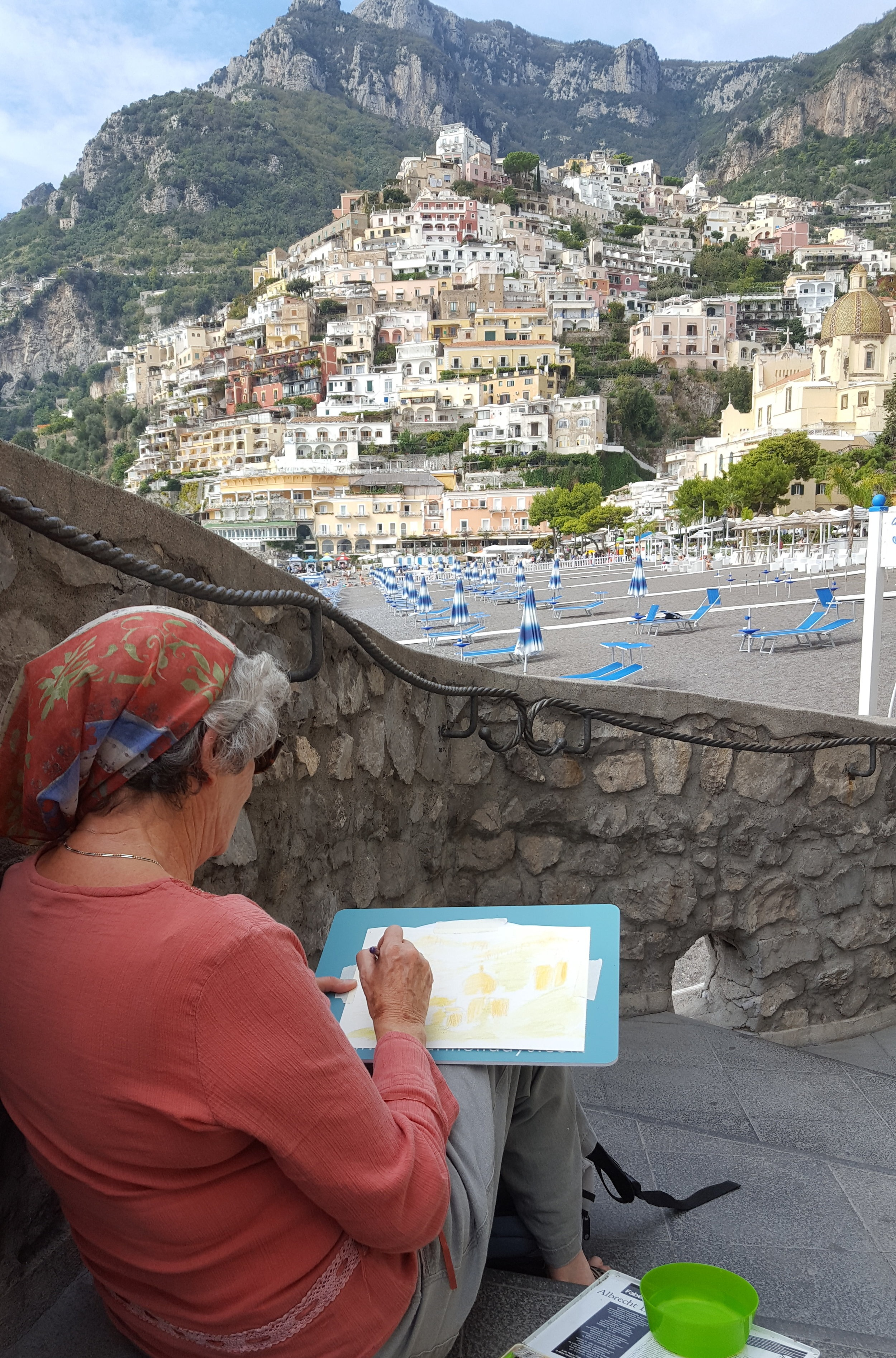 Wendy from one of our 2018 Amalfi coast group in Positano.