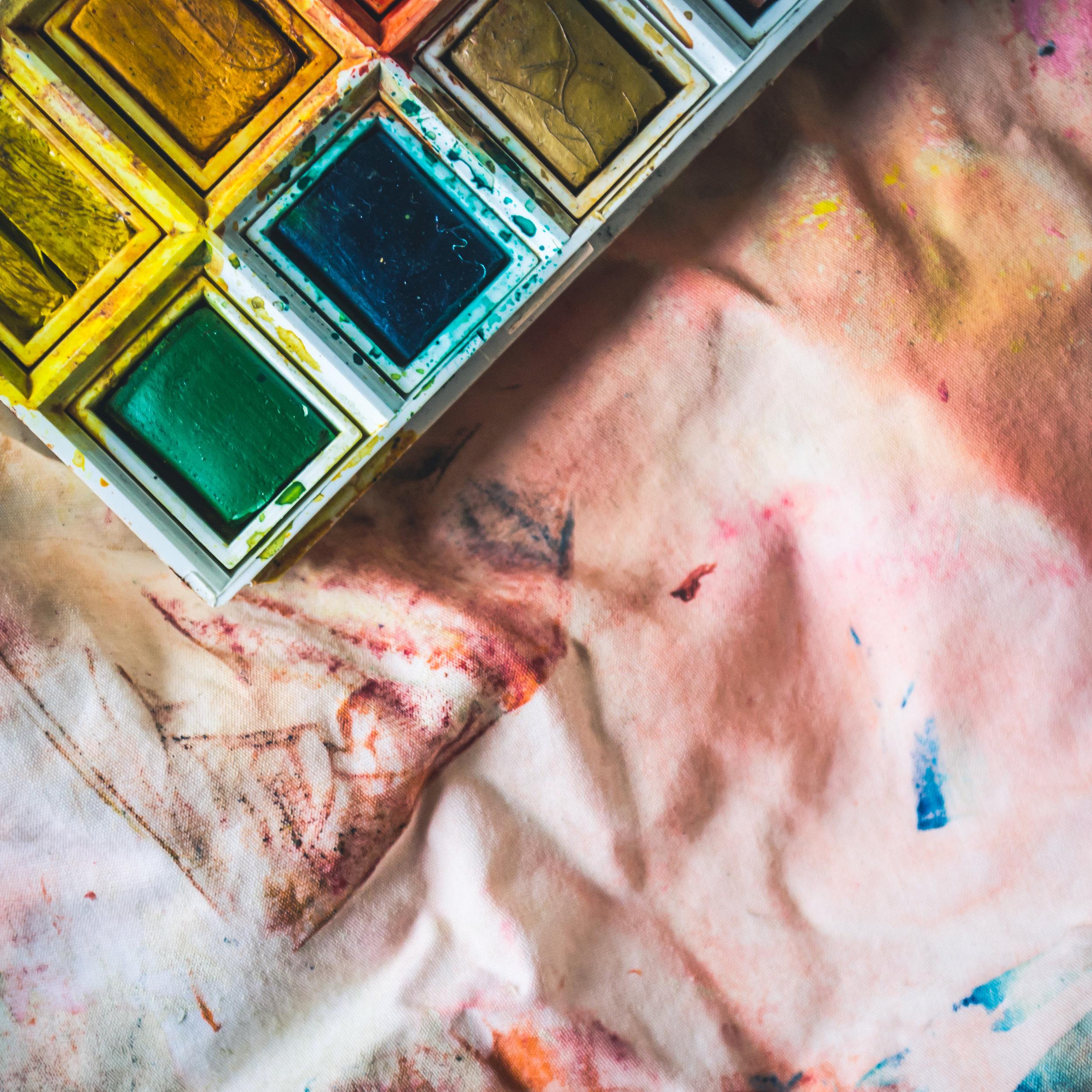 Watercolor painting holiday