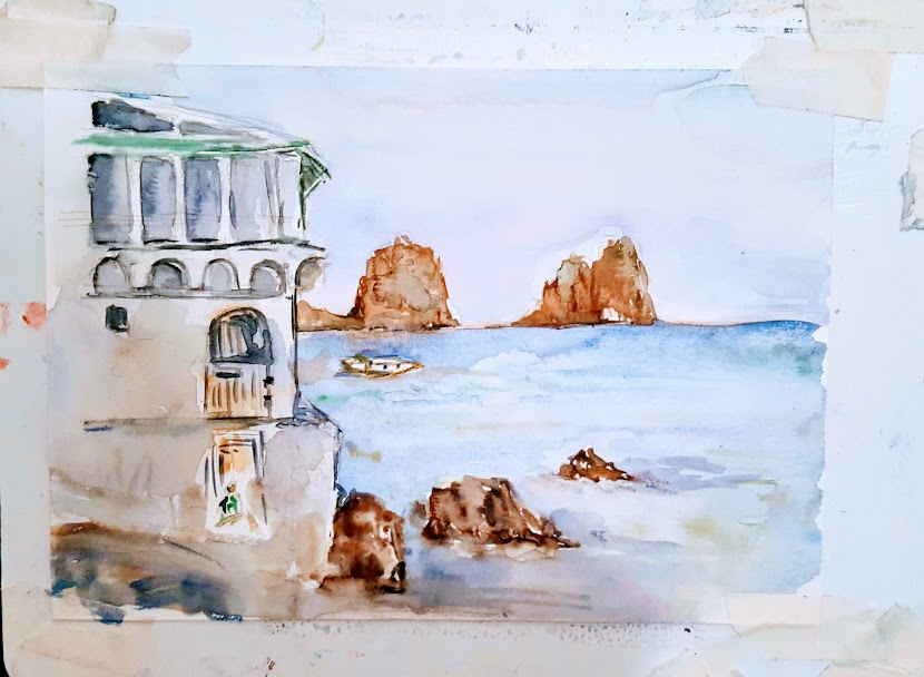 Painting holiday in Italy