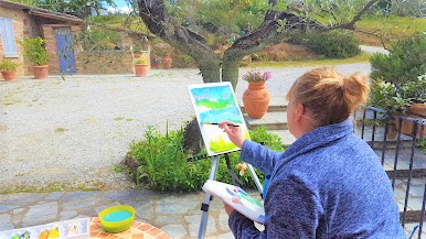Tuscany painting holiday
