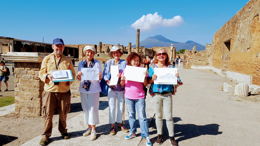 Painting holiday Amalfi Pompeii