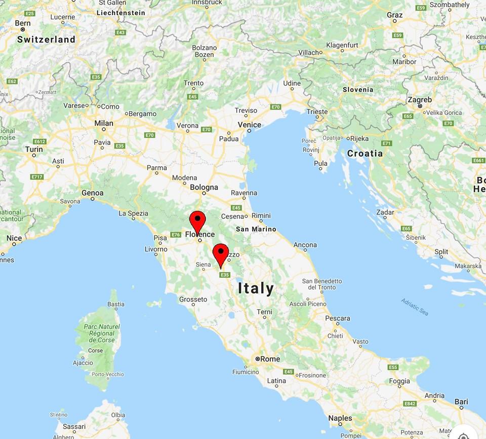 Tuscany painting holiday