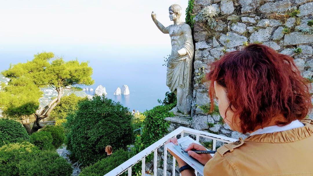 Capri painting holiday