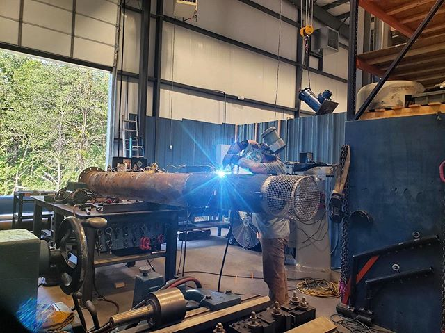 Our Certified Welder/Fabrication Specialist is finishing up a modification to a submersible unit.