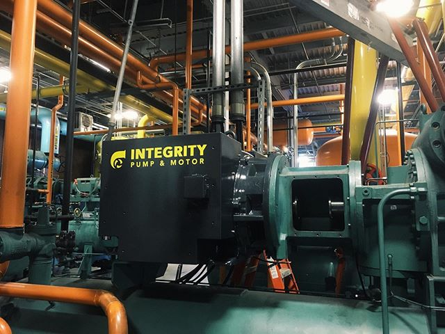 This is a turn key project at Rich's Foods in Murfreesboro, TN. Integrity Pump and Motor was commissioned to pull, completely rebuild the motor, re-install, laser align, terminate the electrical connections from motor to starter, check rotation and program start up.