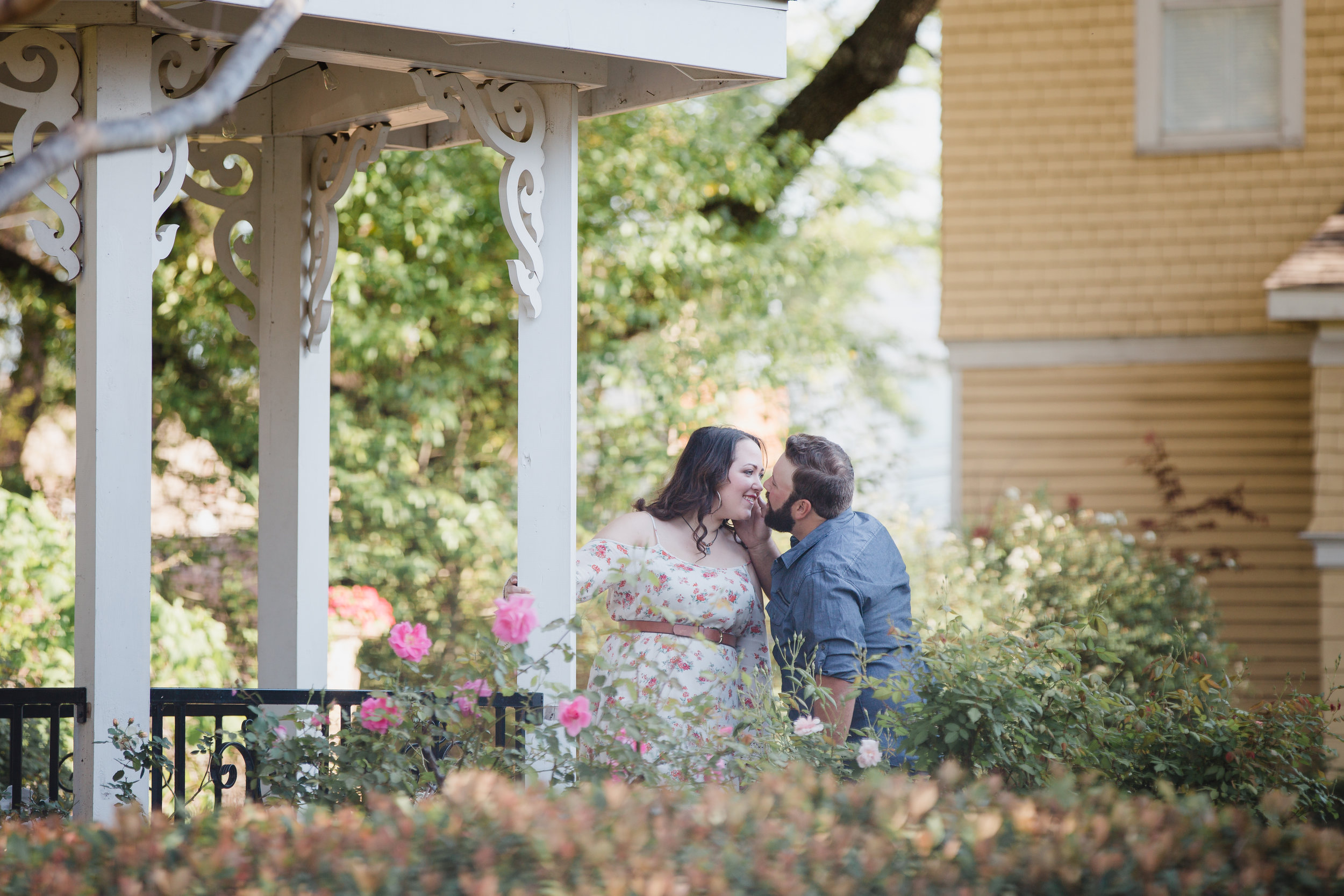 downtown mckinney texas, stealing kisses in the garden, a forever kind of love