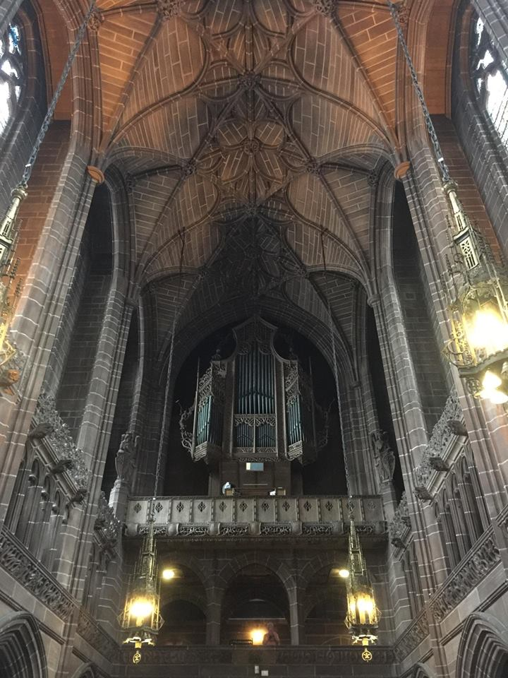 Liverpool Cathedral is the first of its kind I had ever visited. I had set foot in a building built for worship, but this was almost built  by  worship as though the carving of every crevice itself was praise to God.