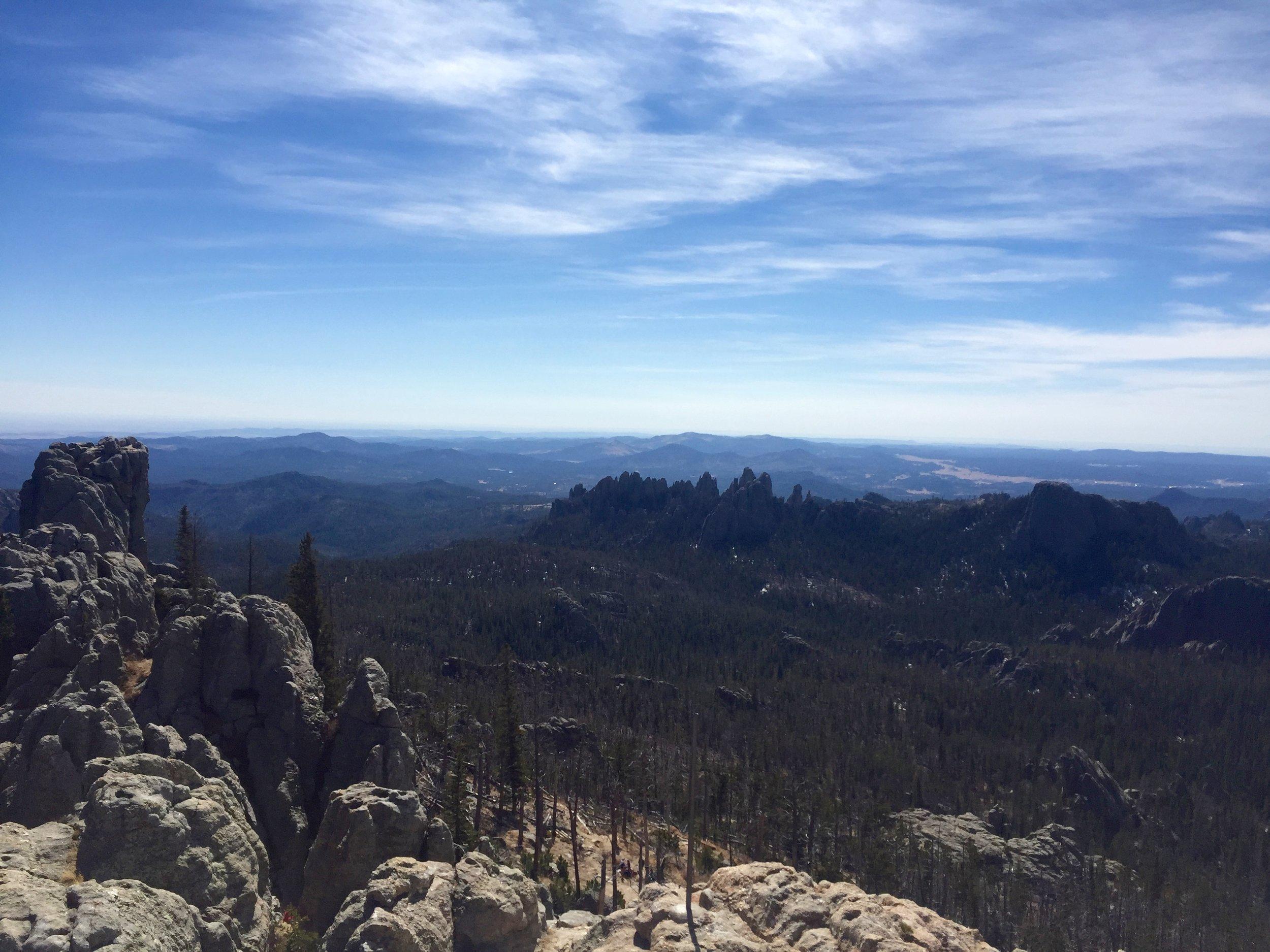 The Black Hills from Harney Peak Courtesy of Singer Horse Capture