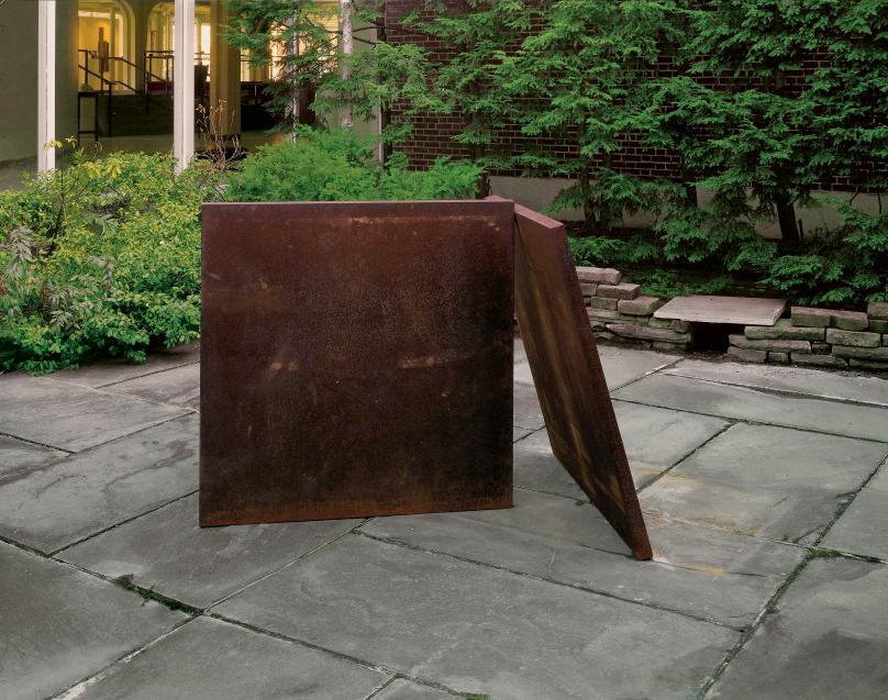 Richard Serra  Two-Plate Prop (1975-6) Cor-Ten Steel Overall: 48 x 48 x 64 in. (121.9 x 121.9 x 162.6 cm)  Hood Museum of Art, Dartmouth College: Gift of Dorothy and Roy Lichtenstein  © Richard Serra / Artists Rights Society (ARS), New York S.975.97