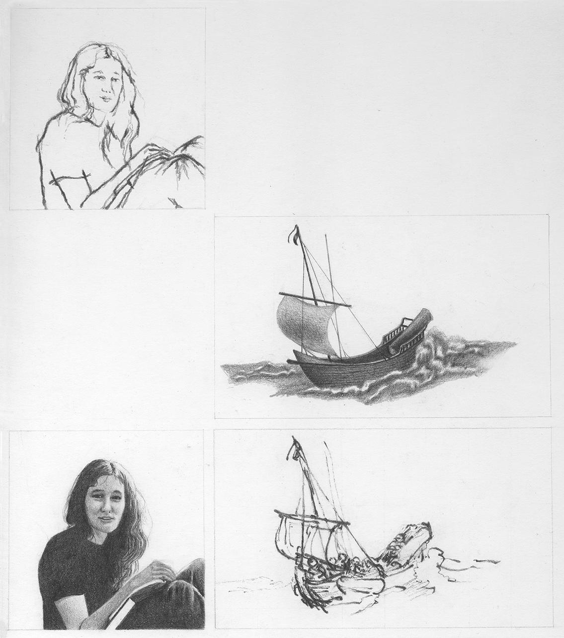 SVA student work, 1970, soft pencil on Strathmore board