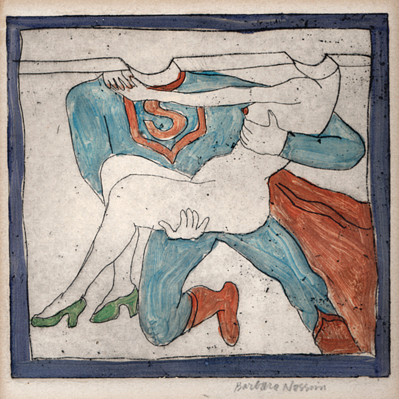 Superman Carrying Girl with Green Shoes, 1963