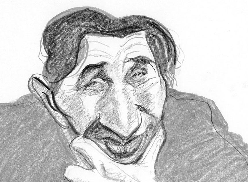 Portrait of the great illustrator, David Levine