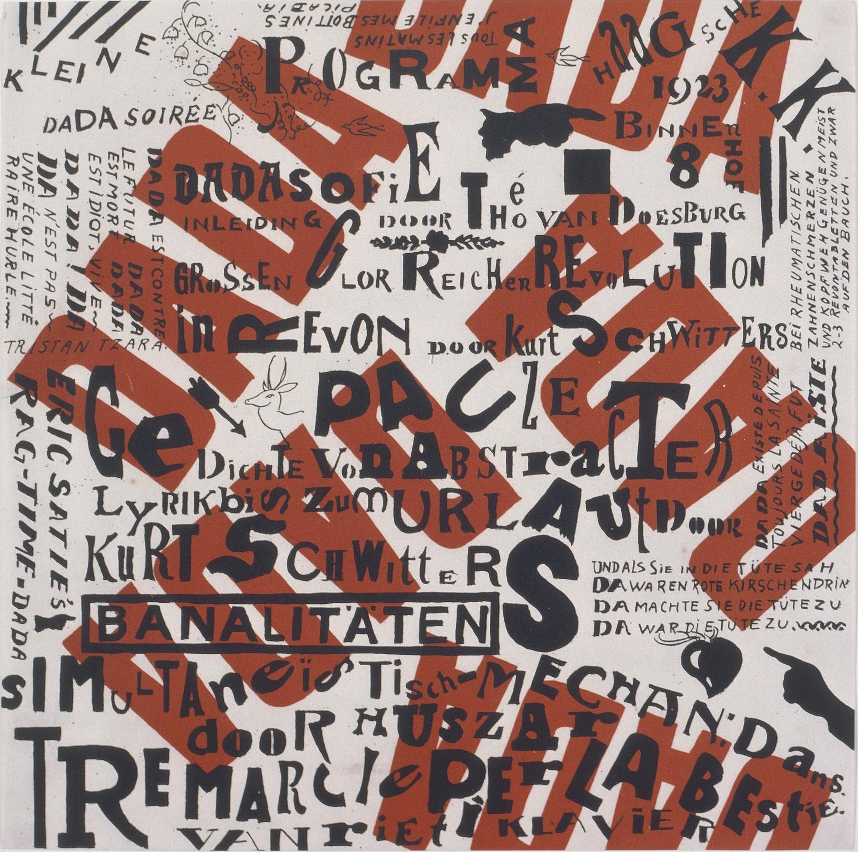 Kurt Schwitters, German, 1887 - 1948 Theo van Doesburg, Dutch, 1883 - 1931   Kleine Dada Soiree (A Little Dada Soiree)  1922 © 2017 Artists Rights Society (ARS), New York / VG Bild-Kunst, Bonn