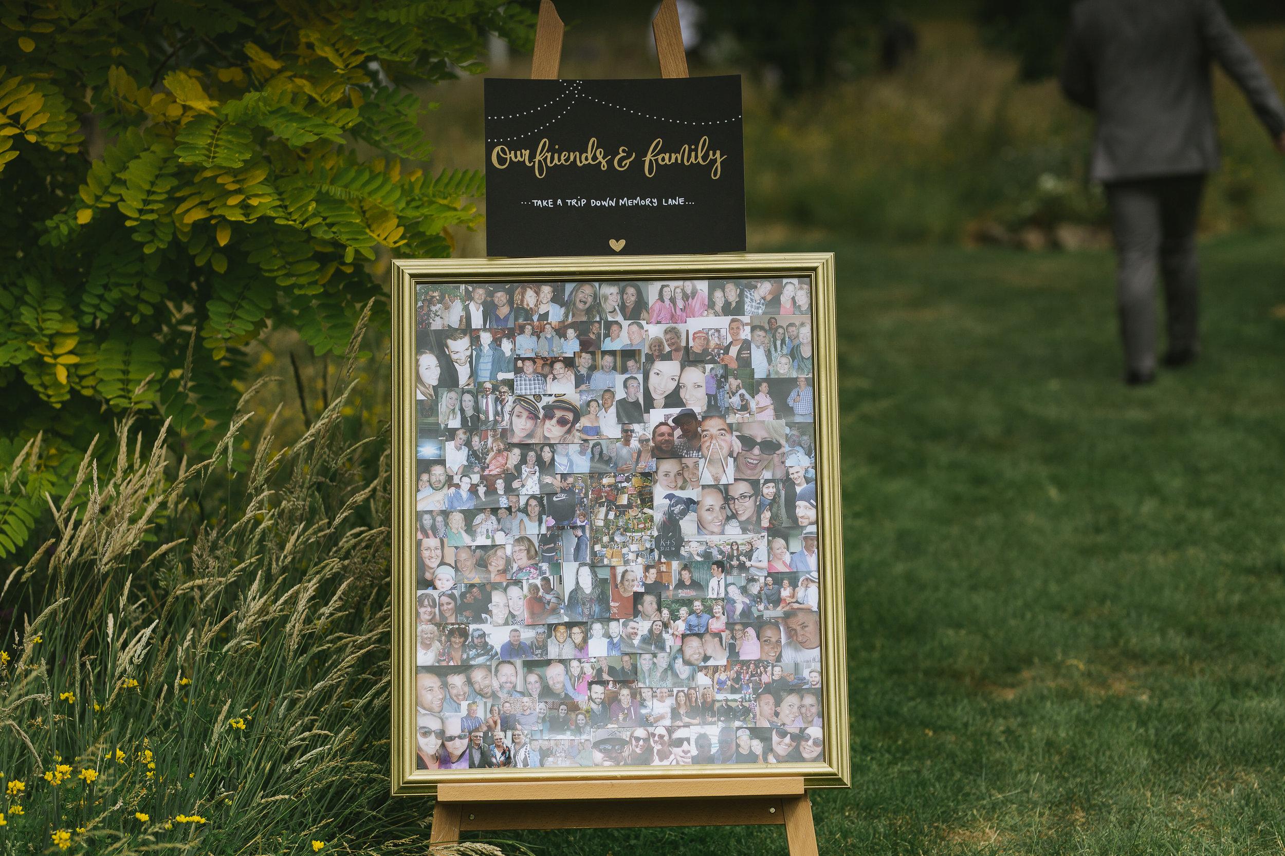 Friends & Family Chalkboard Sign