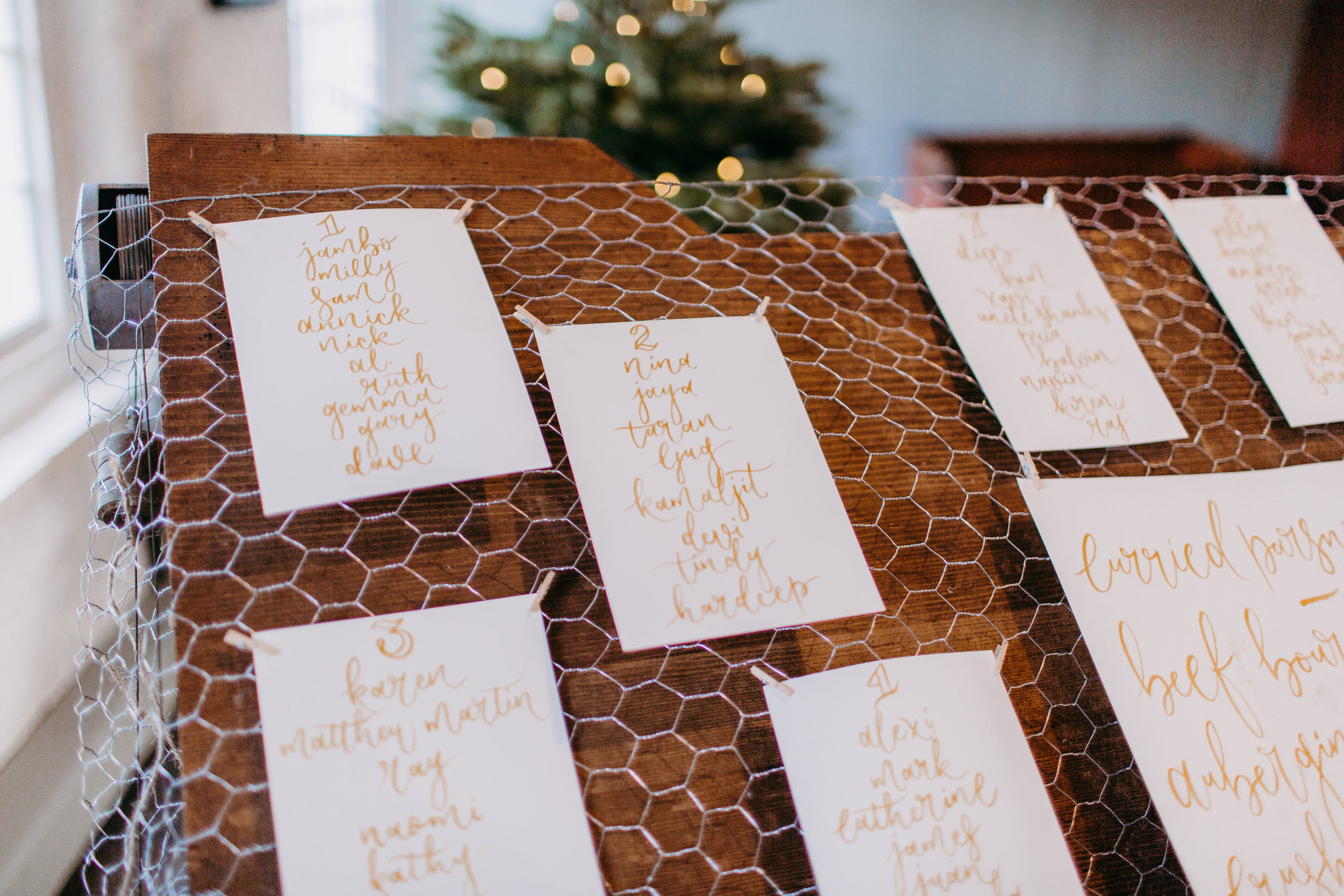 Louie Tilley - Sepia Brush Lettering Table Plan