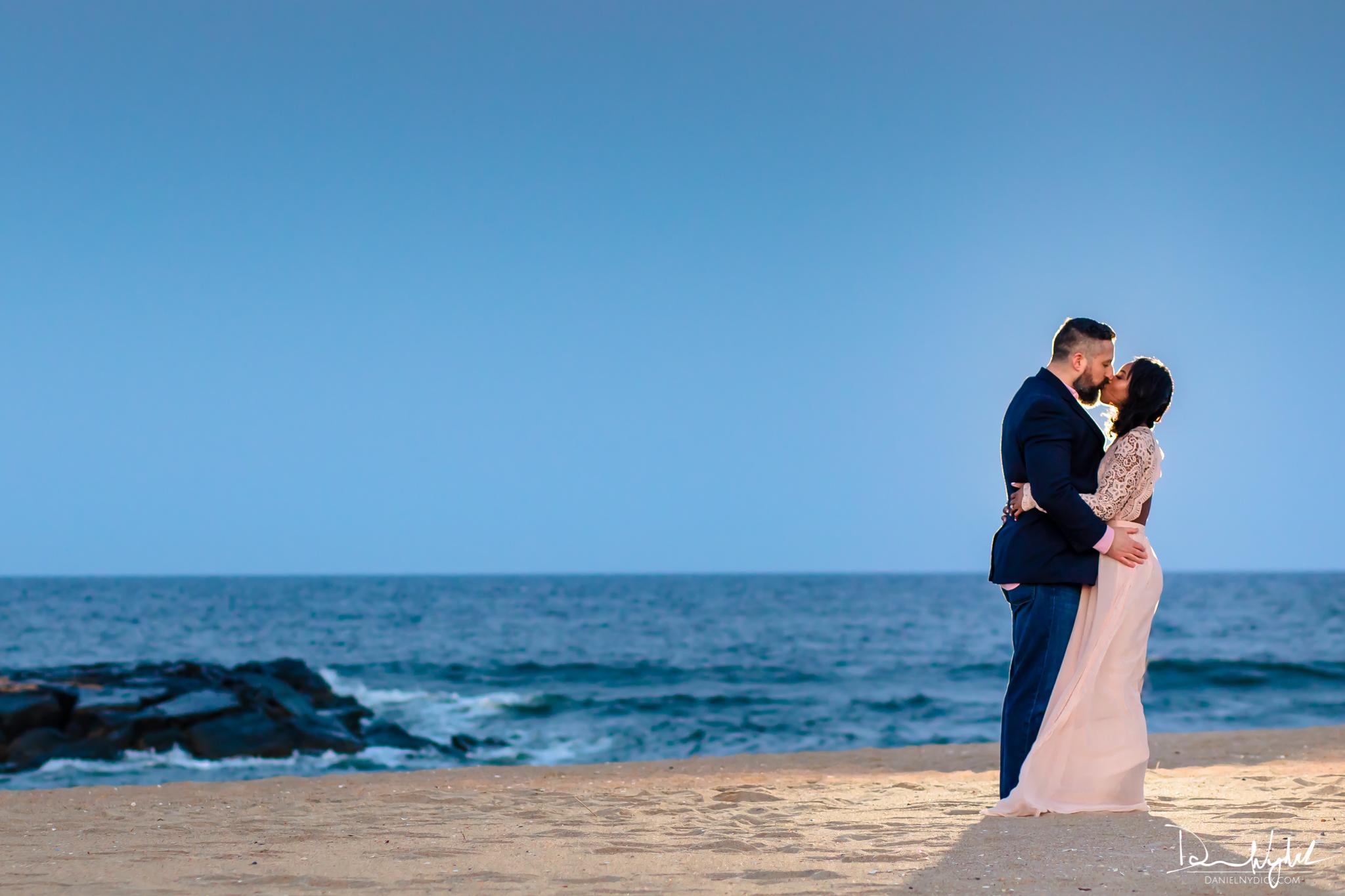 engagement on beach