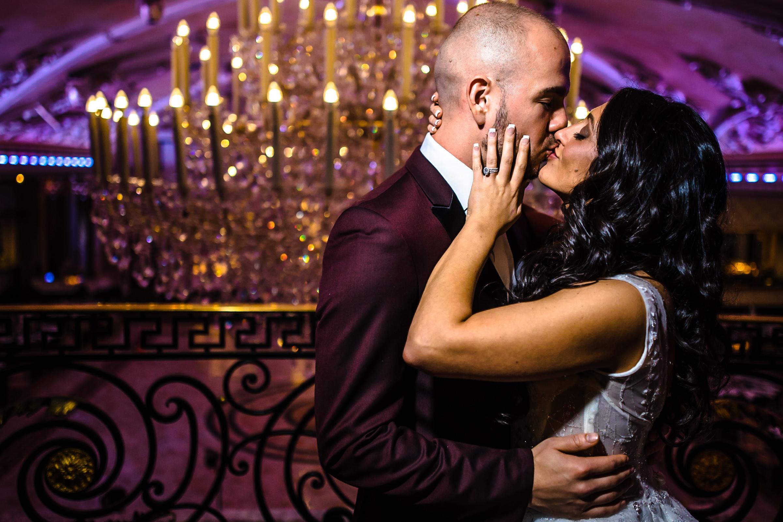 husband groom bride wife kiss venetian