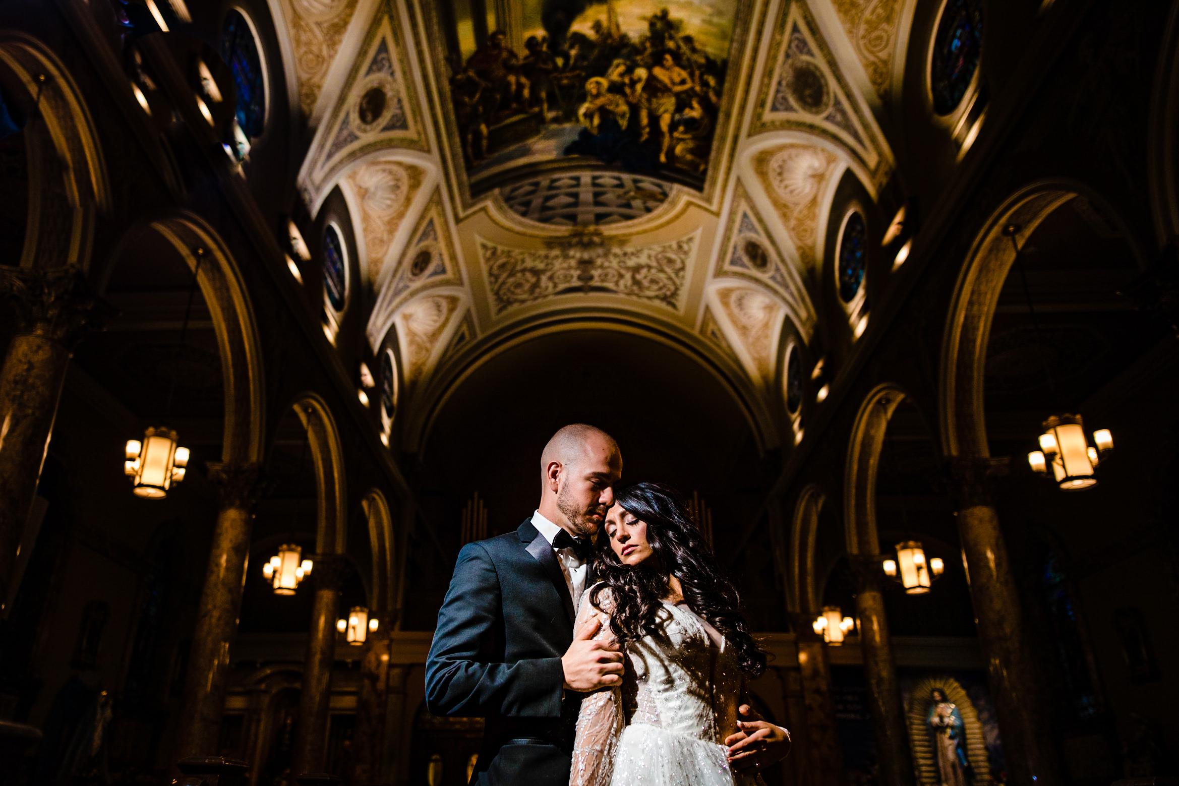 wedding day portrait st. lucys church venetian garfield newark n