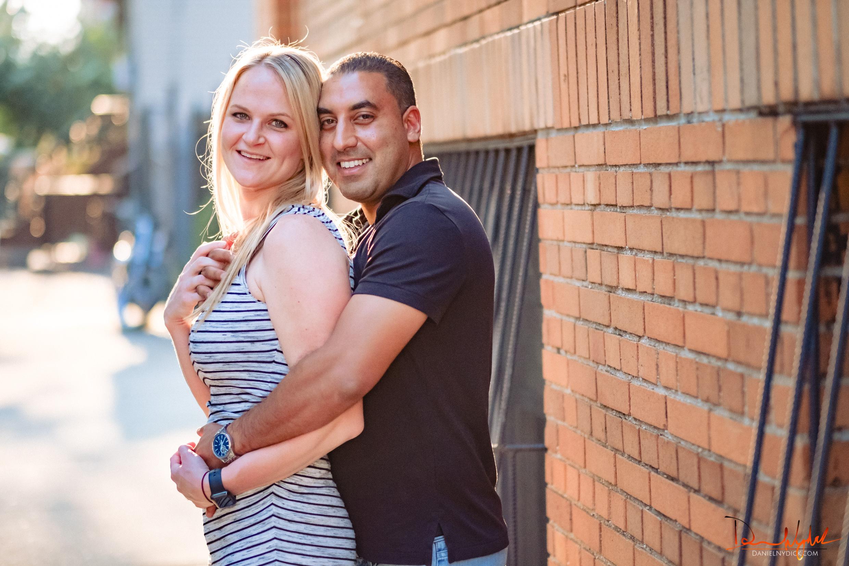 romance engagement photo