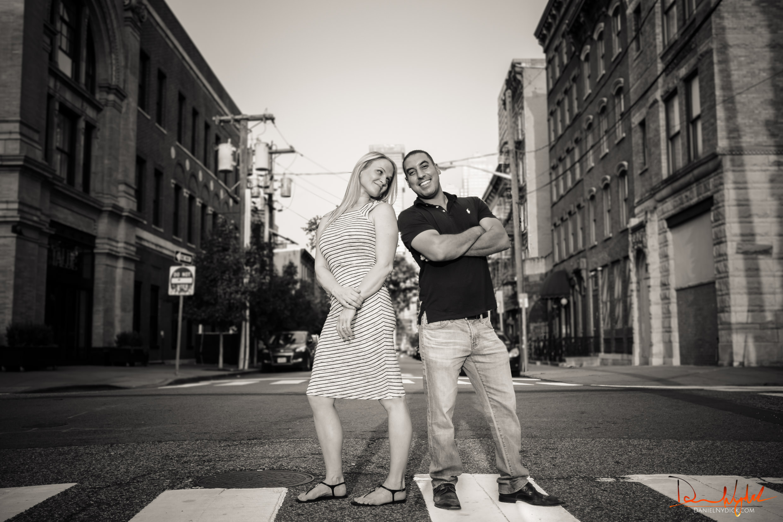 fun couple portrait jersey city