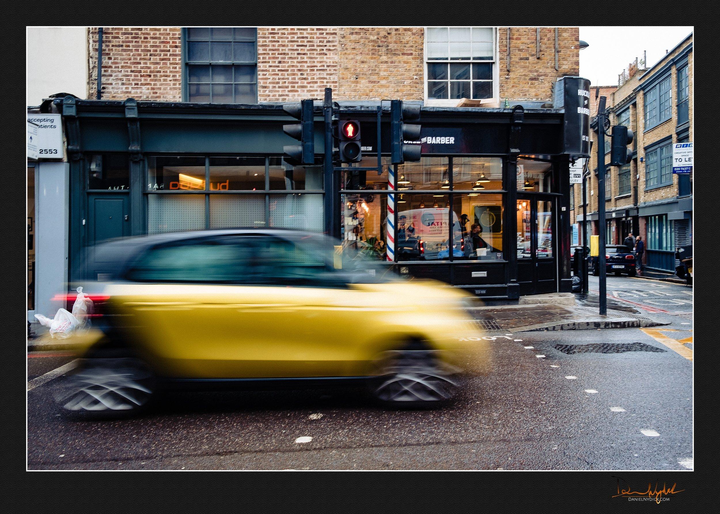 slow shutter, shutter drag, shoreditch, car, people, street