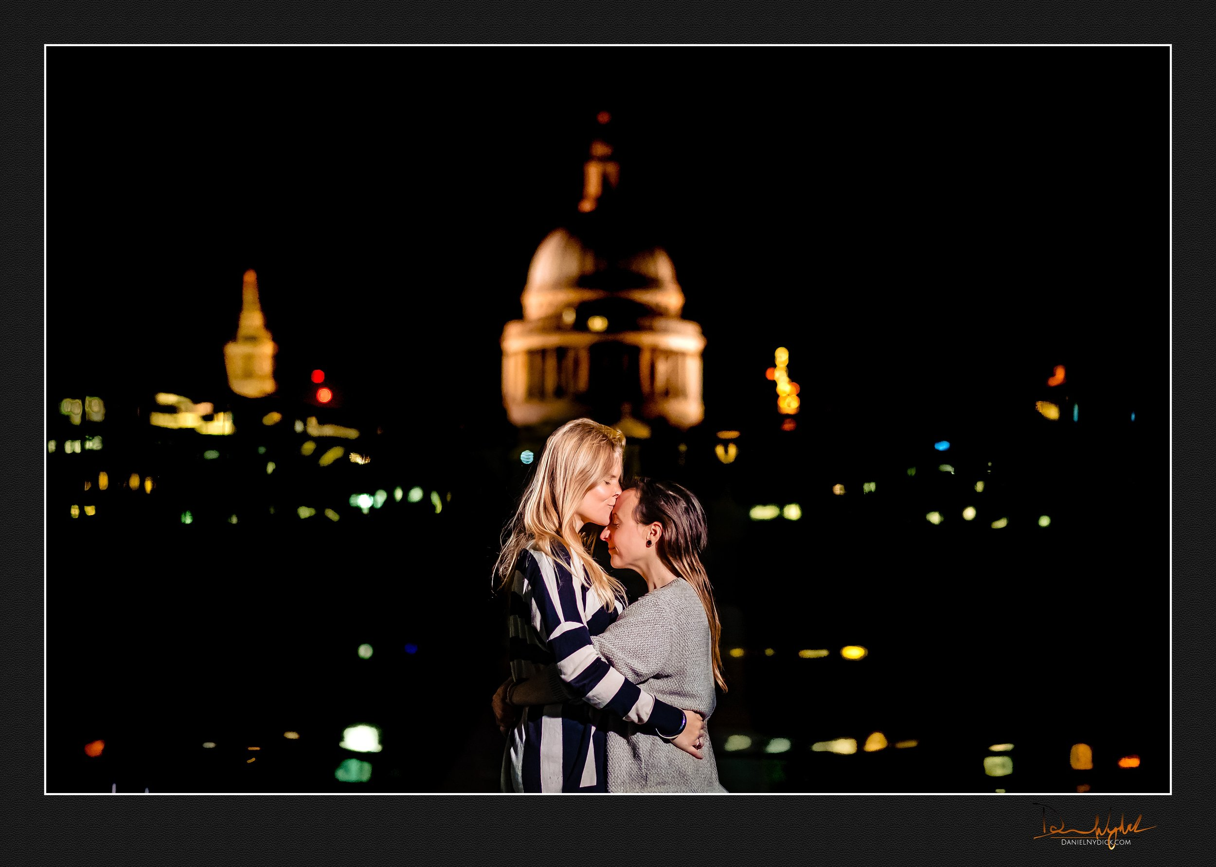 millenium bridge, st. paul's cathedral, london, love, couple, lg
