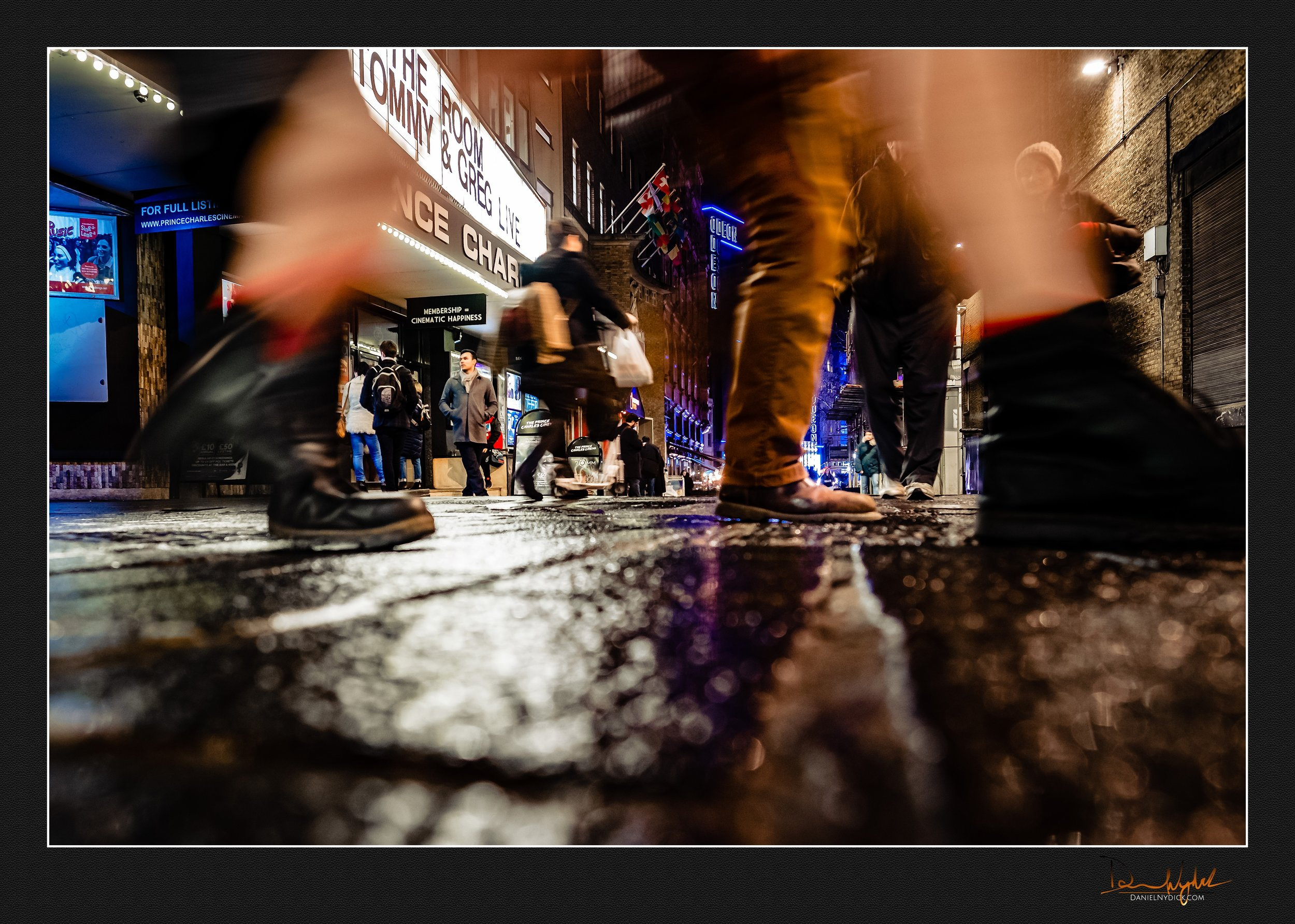 ground level street photography, london, movement, shutter drag,