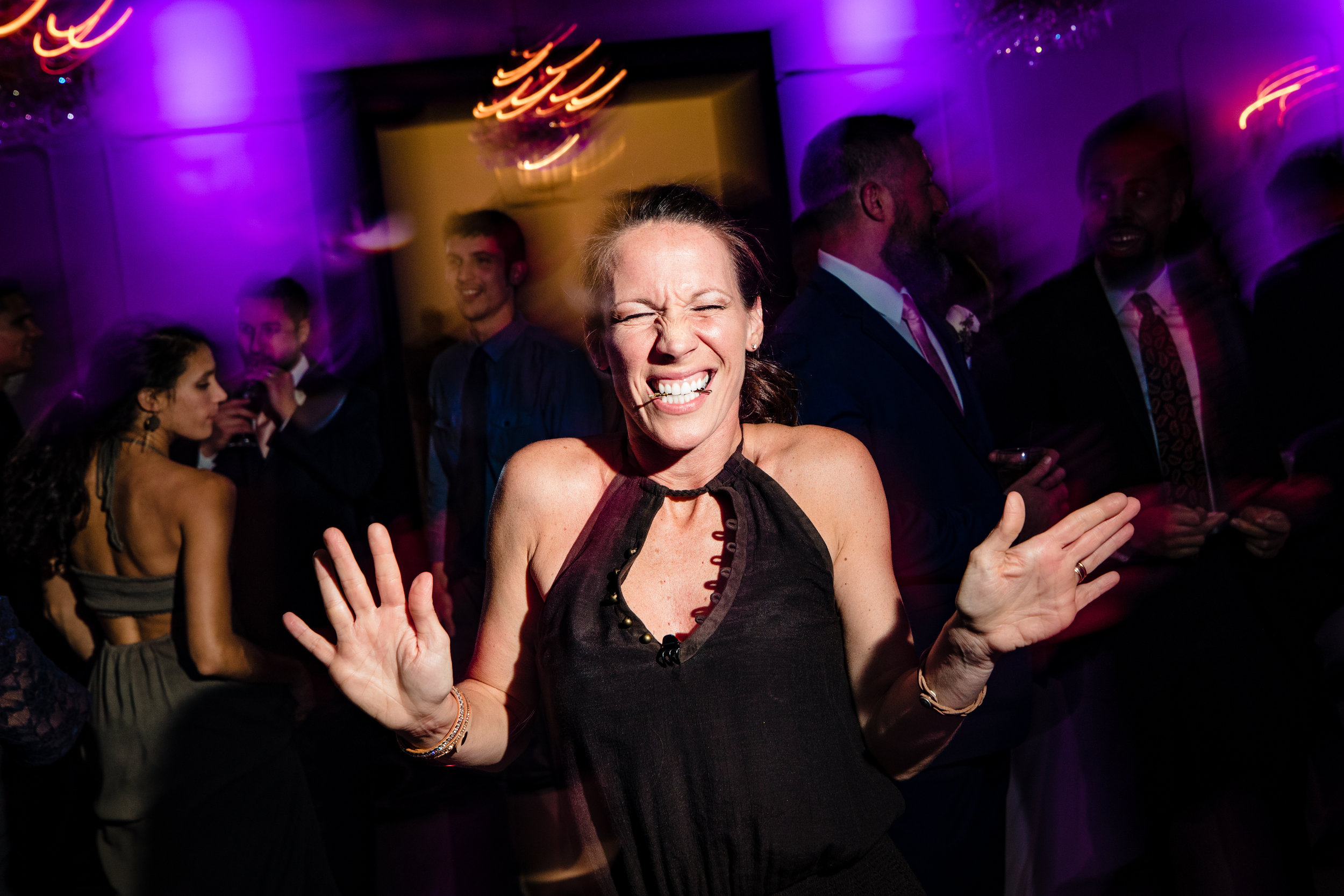 so much fun at this wedding on the dance floor