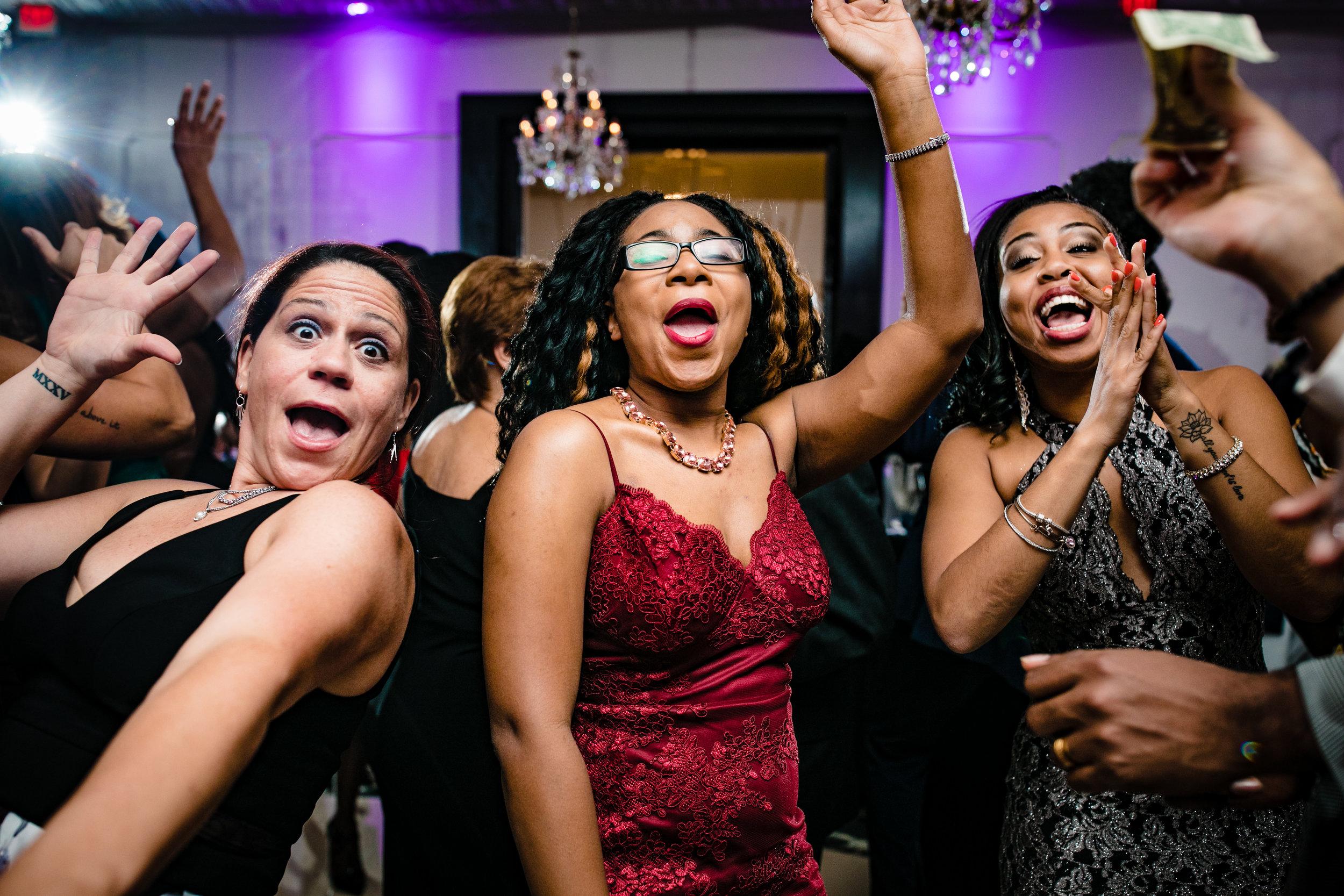 fun dance floor ladies dancing women and clapping