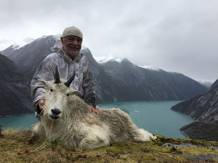The author with his hard won goat.