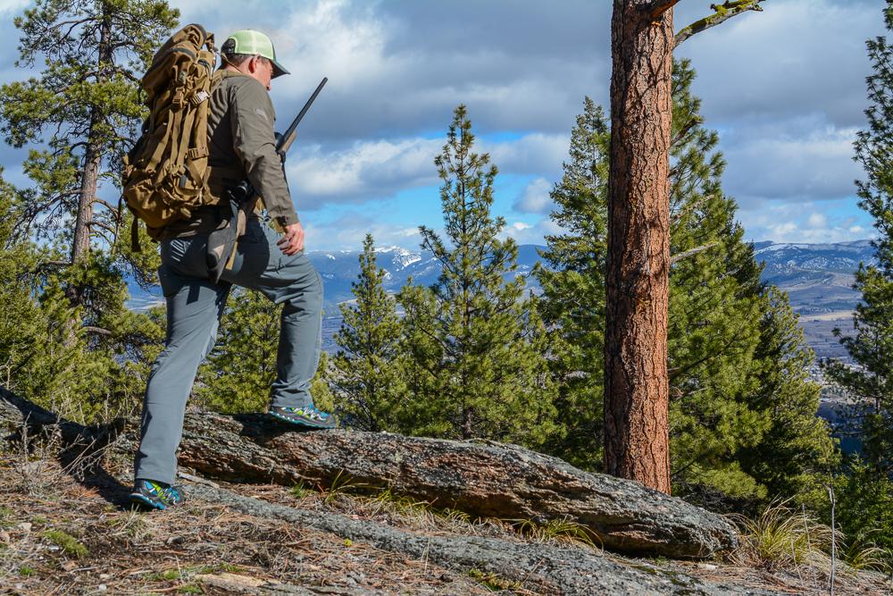 The Model 52's slim shorter stock worked well in Kifaru's Gun Bearer accessory while hiking