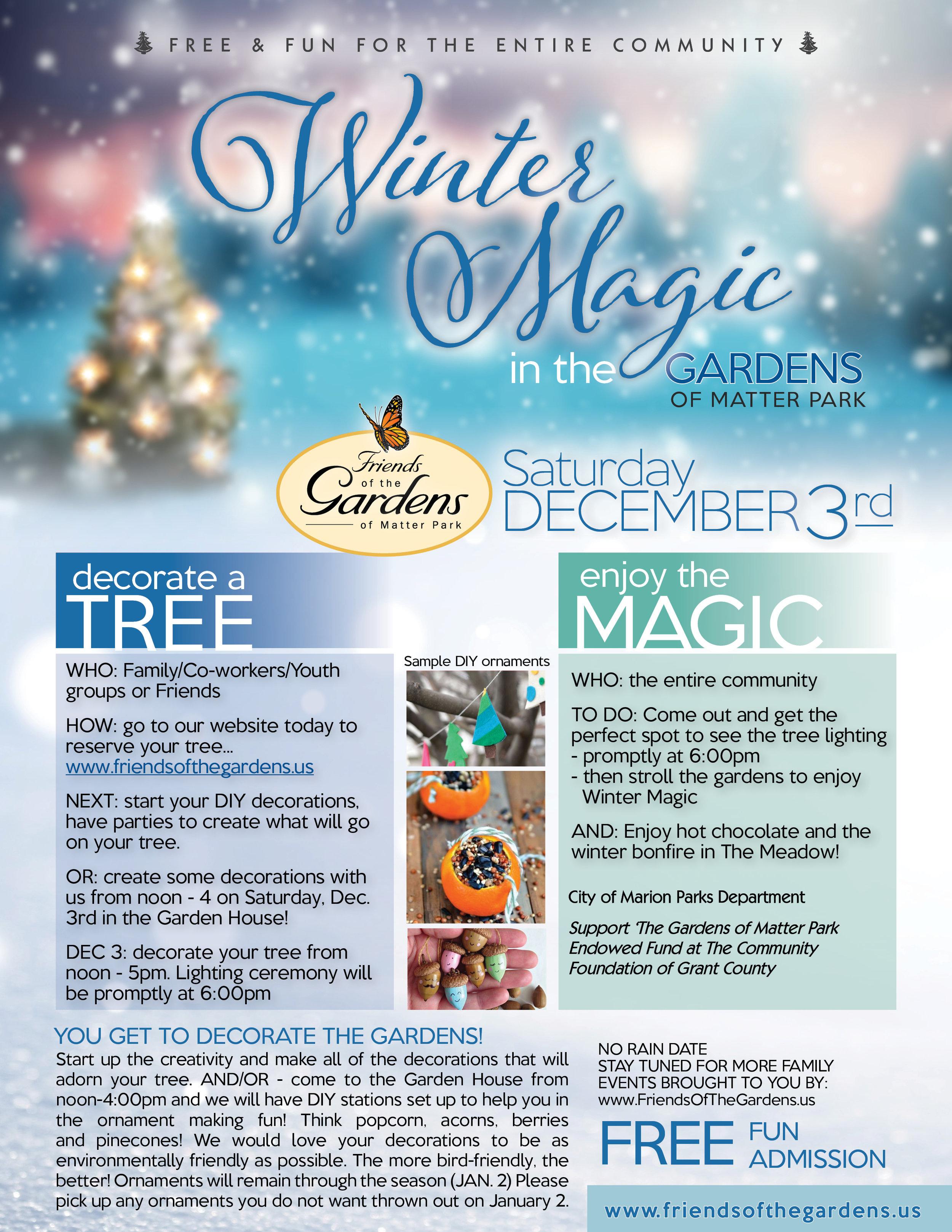DECEMBER 2016: Winter Magic in the Gardens