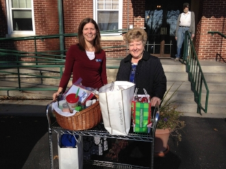 Delivering supplies to one of our community partners