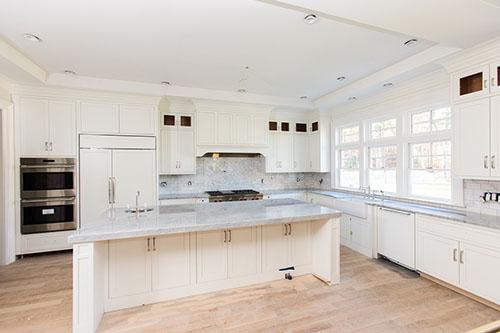 Interior shot of upscale kitchen