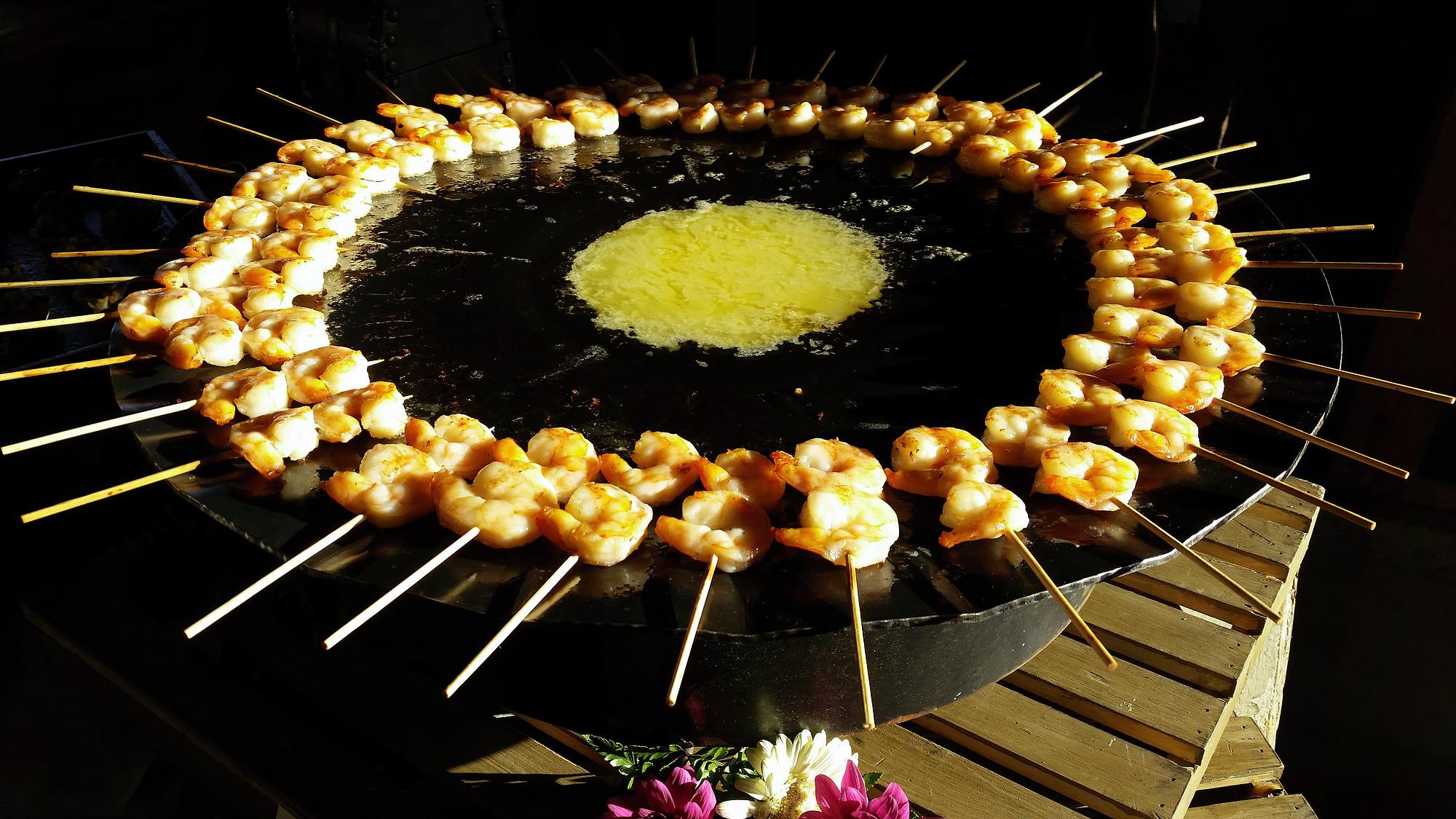 Grilled Shrimp Skewers with Lemon Butter Sauce
