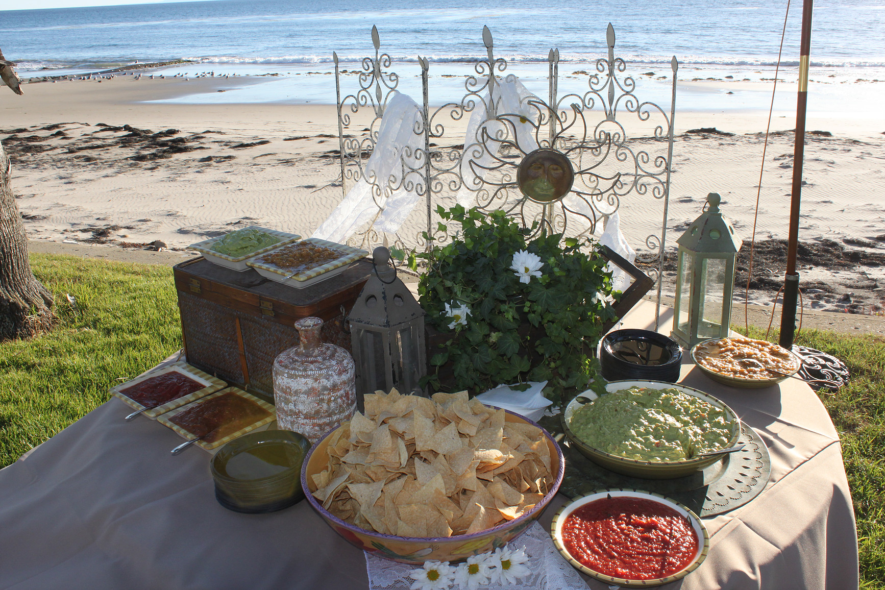 Tortilla Chips, Assorted Salsas, and Guacamole Station