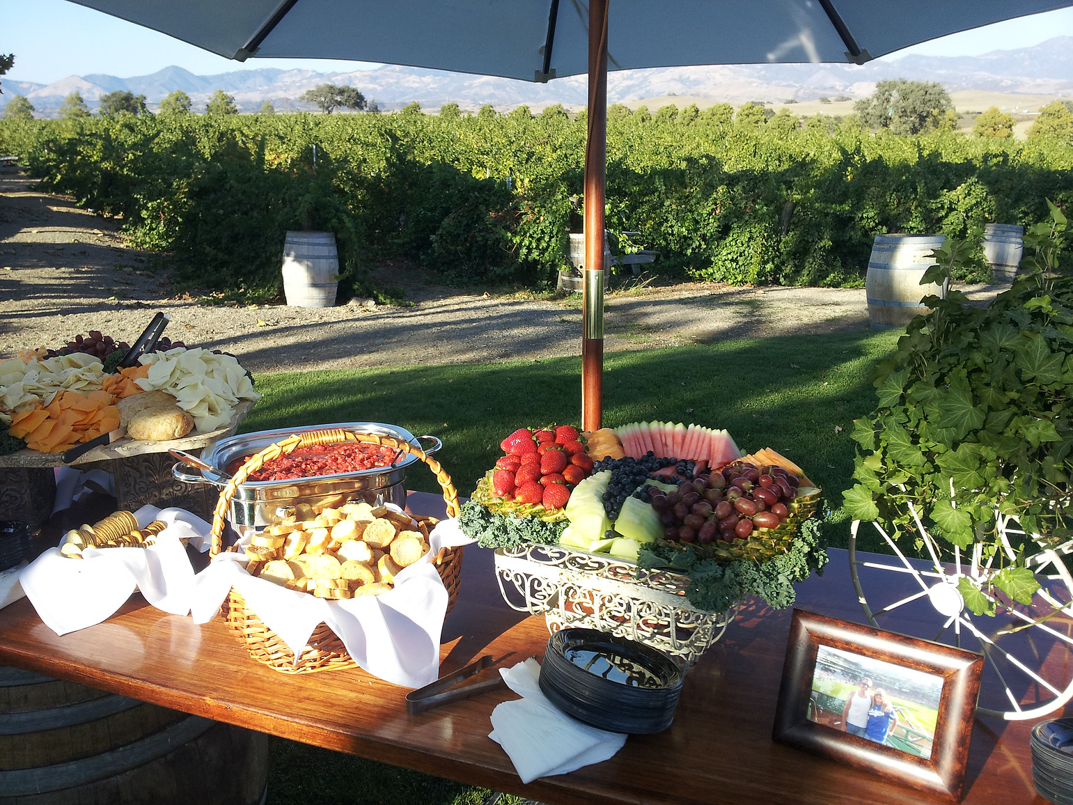 Table Display Hors D'oeuvres