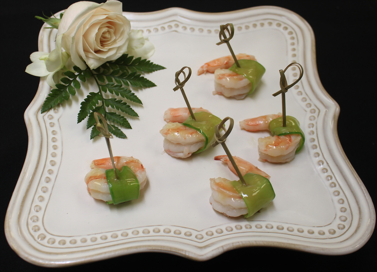 Ginger Soy Shrimp Wrapped in a Snow Pea
