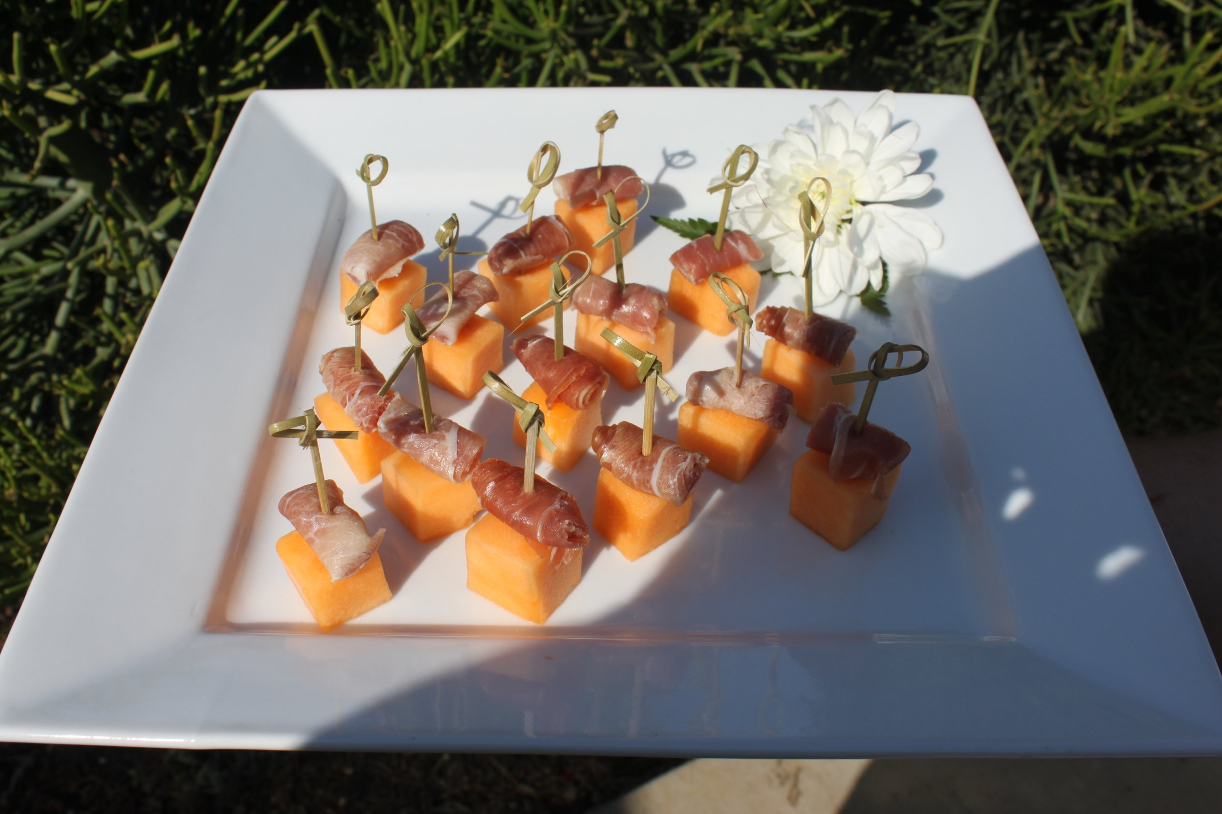 Sweet Melon with Imported Proscuitto