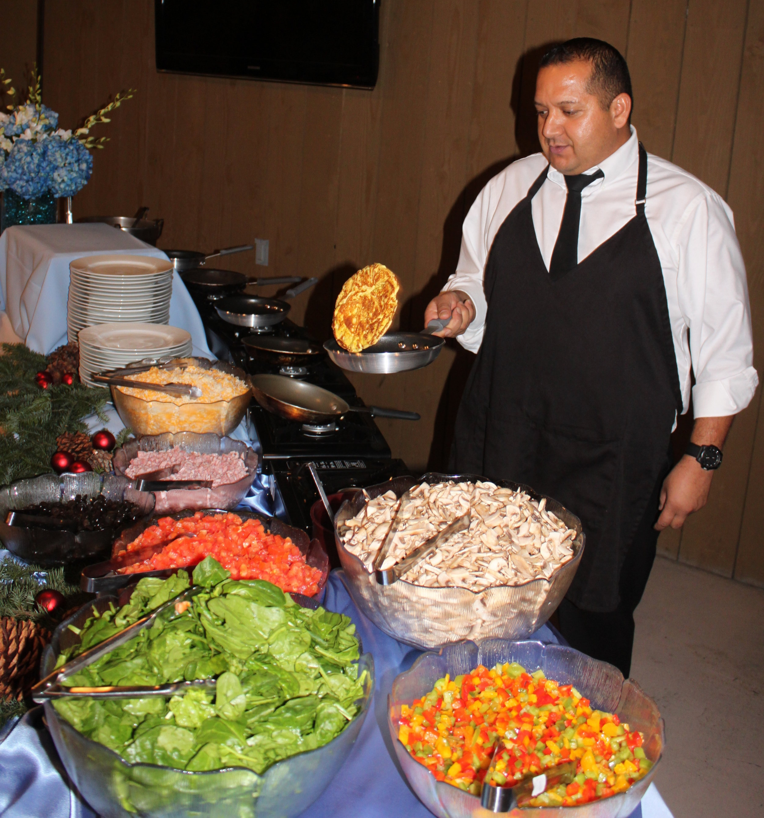 Omelettes Made to Order - by our highly trained and professional chefs