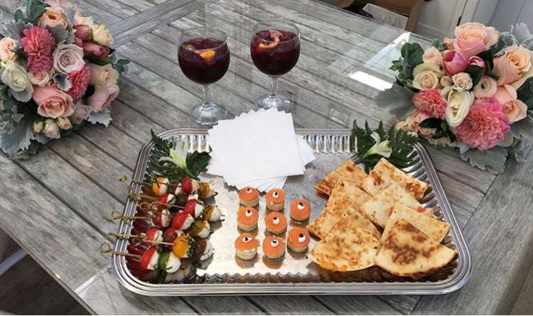 Hors D'oeuvres for the Bride and Groom