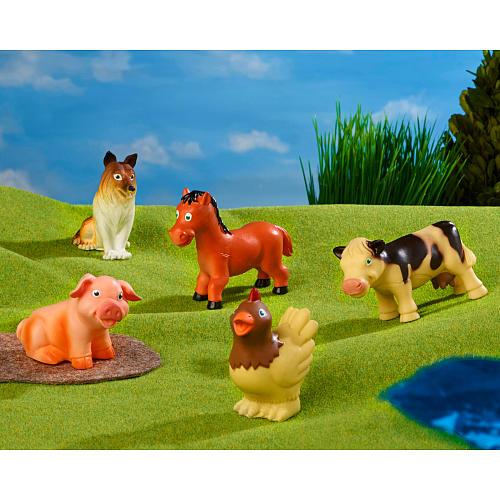 Farm Animal Entry Set   Washable farm animals - set of 5